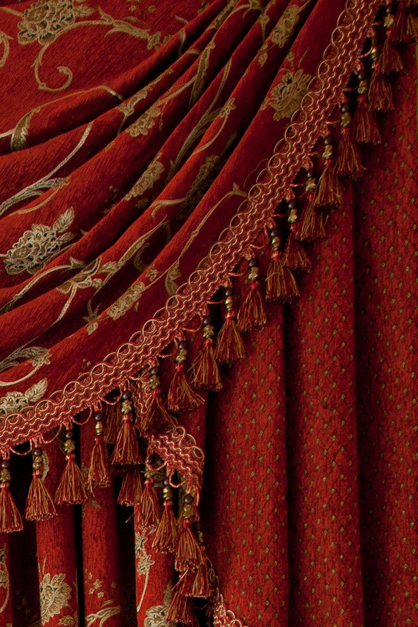 Louis Xvi Royal Red Swag Valances Curtain Drapes