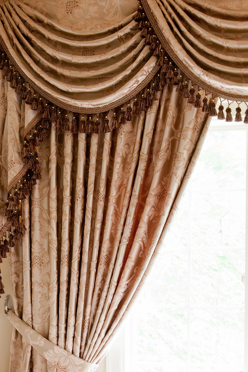 Classic Overlapping Swag Valances Curtain Drapes Baroque