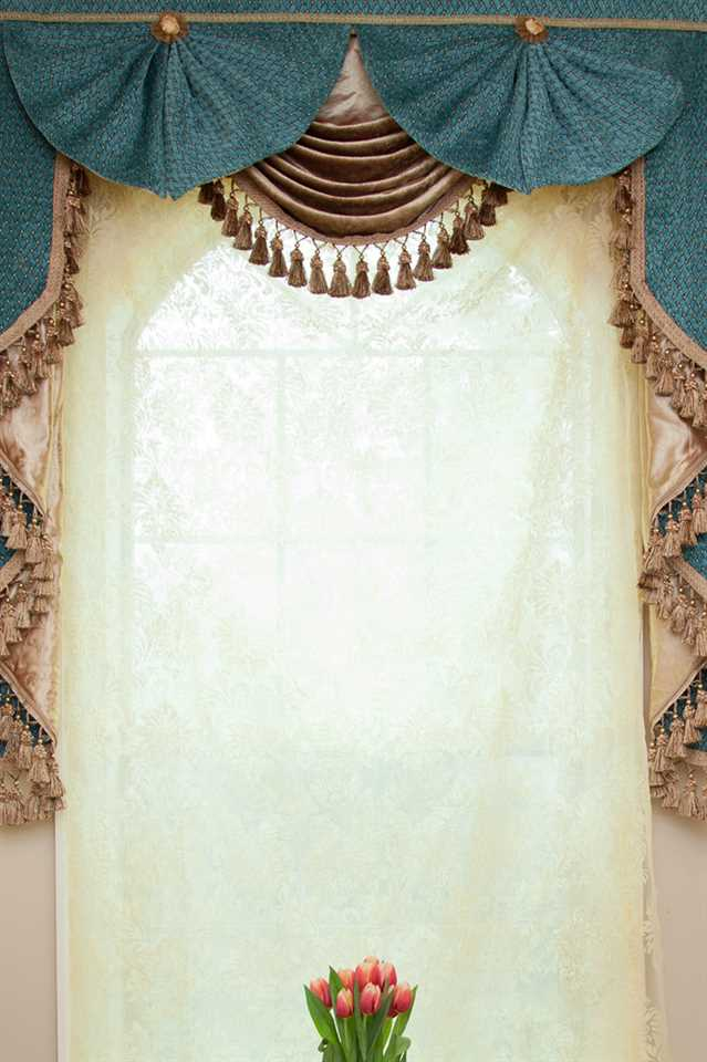 Picture of Blue Salon Valance 50''