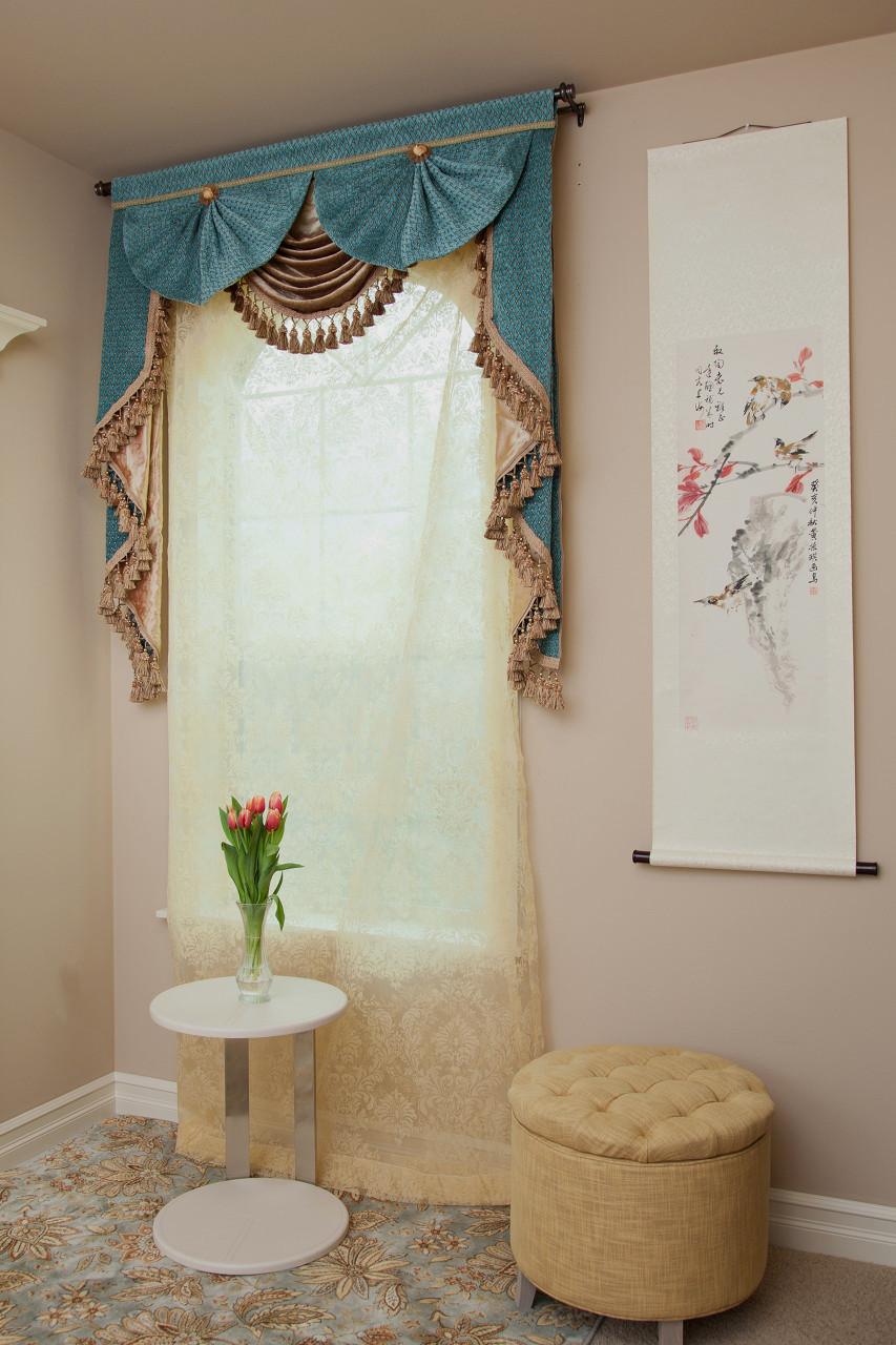Blue Salon Swag Valances Curtain Drapes 50