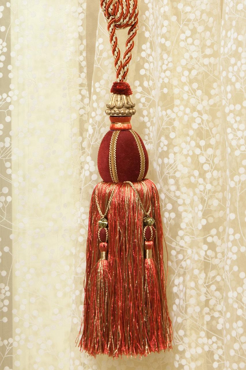 Luxury Red Tapestry Tassel