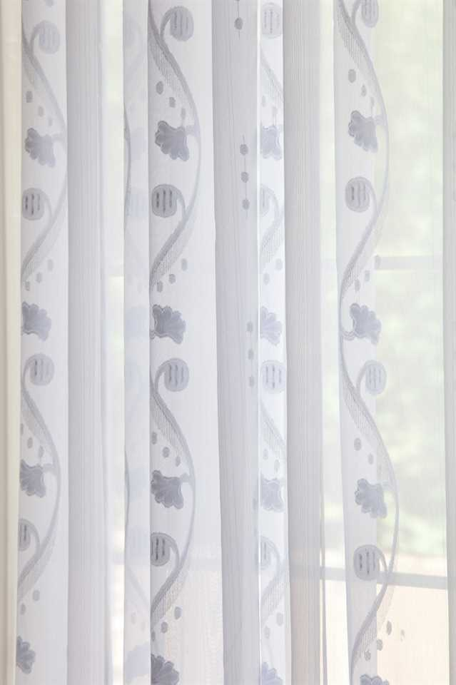 Picture of Rose and Vine Sheer Curtains - White