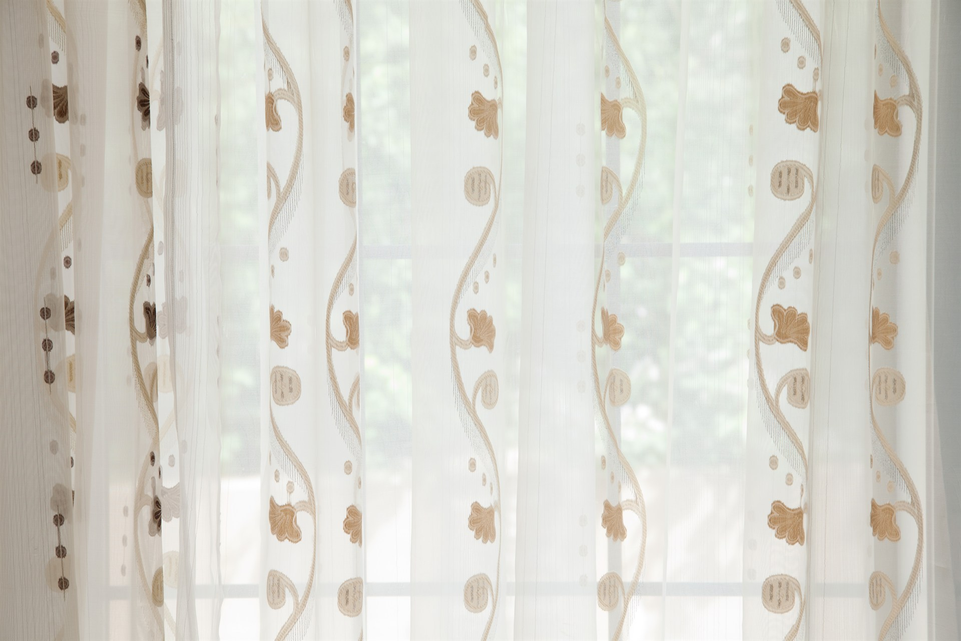 Picture Of Rose And Vine Sheer Curtains