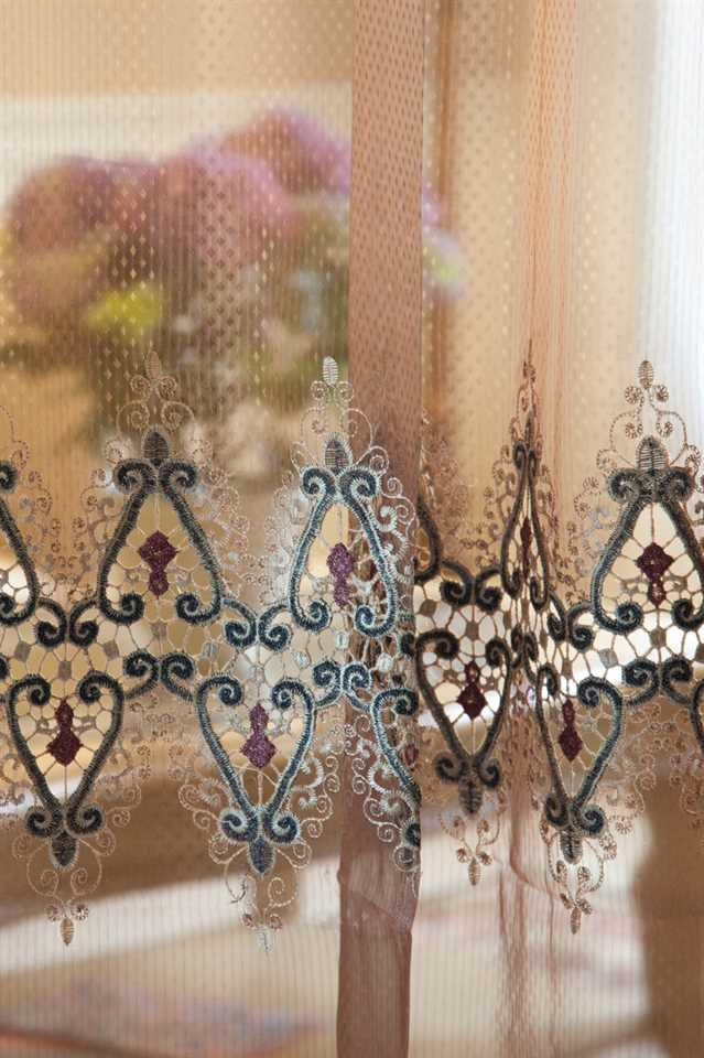 Picture of Cleopatra Embroidery Sheer Curtains