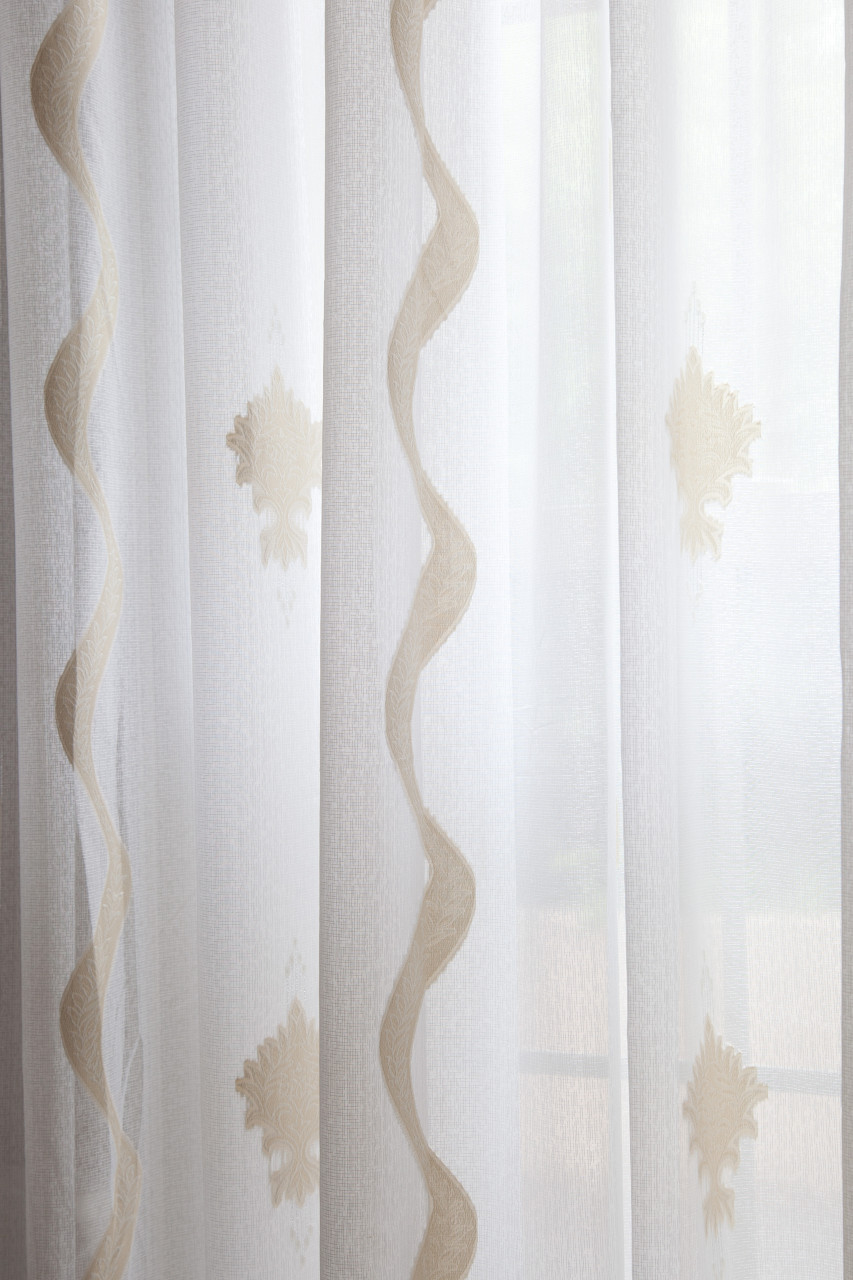 Picture Of Aegean Breeze Sheer Curtains   Gold