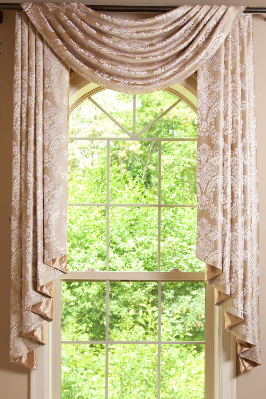 sheer with design drapes curtain valance beige curtains cream swag ivory fabric pelmet itm eyelet pleat