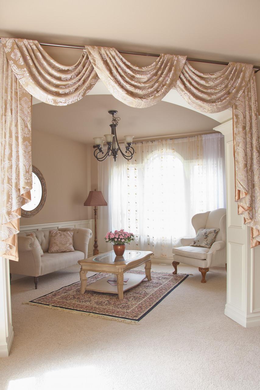 gold ivy swag valance drapes. Black Bedroom Furniture Sets. Home Design Ideas