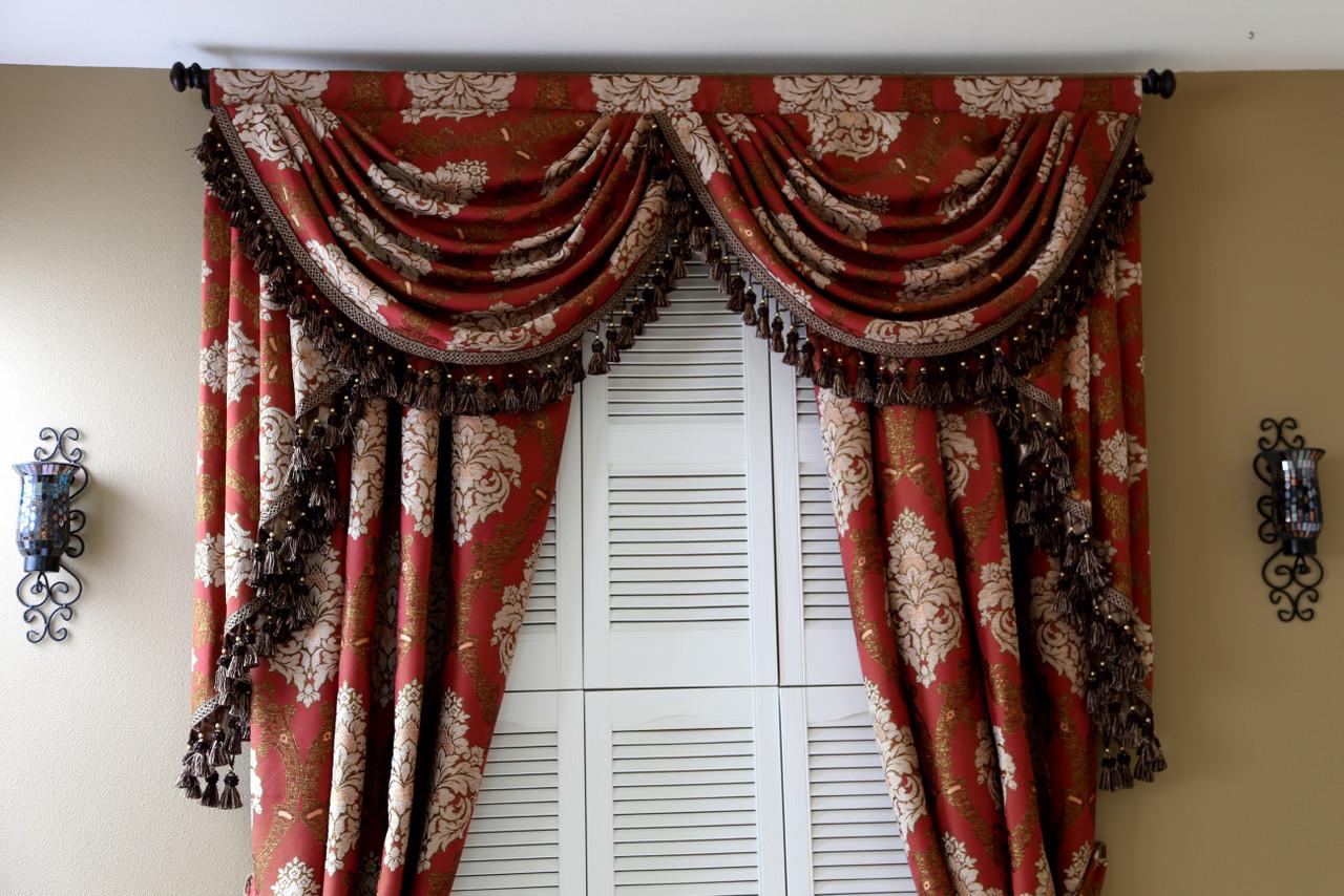 Turandot Swag Valances Curtain Drapes