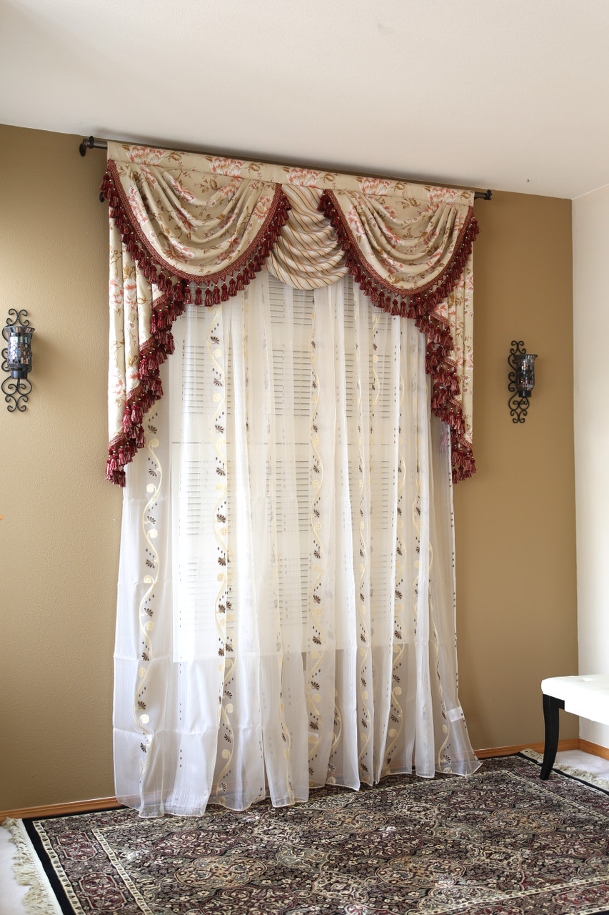 Wonderful Picture Of Debutante   Classic Overlapping Swag Valance Curtains
