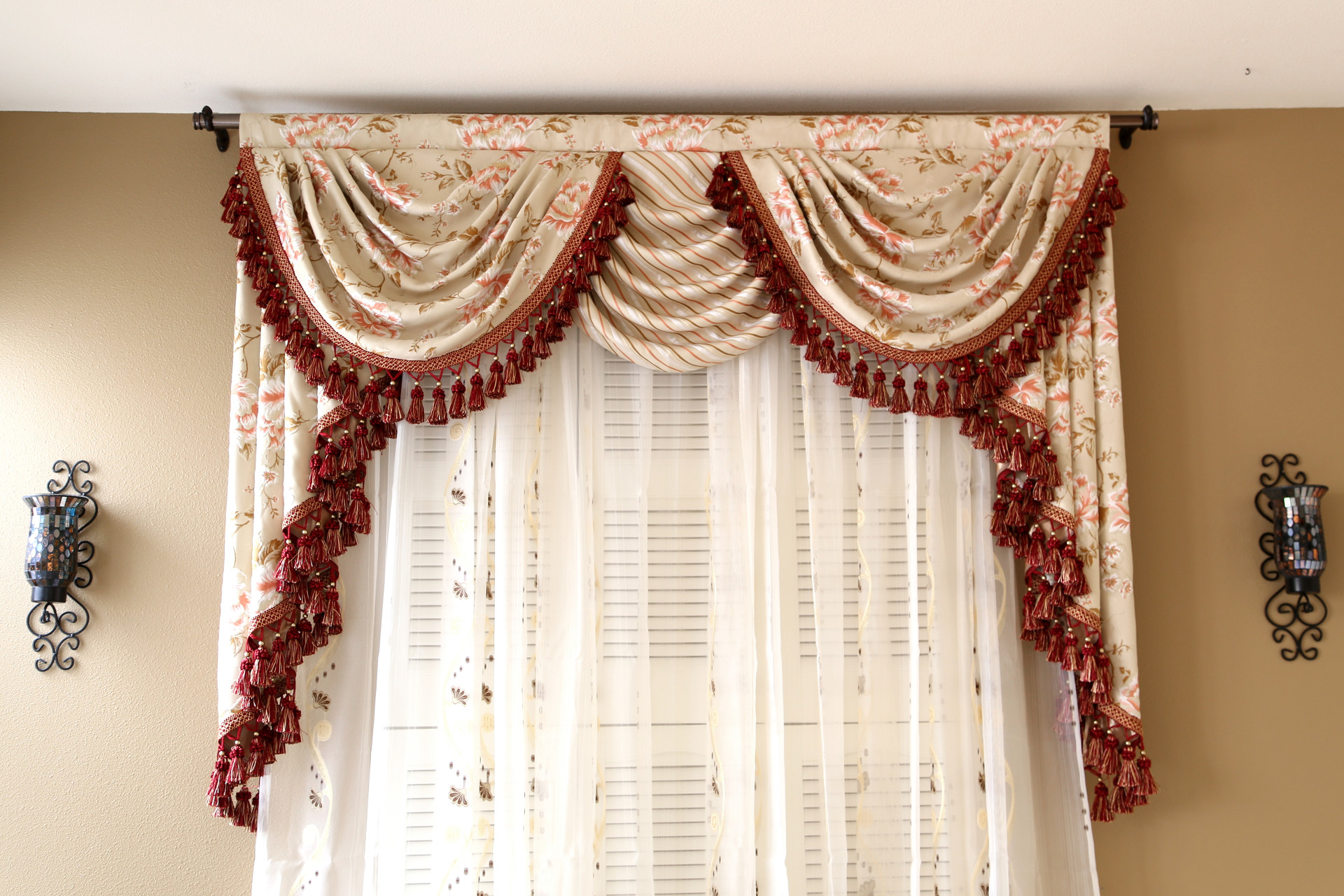 Debutante Overlapping Swag And Tail Valance Curtains Picture 3