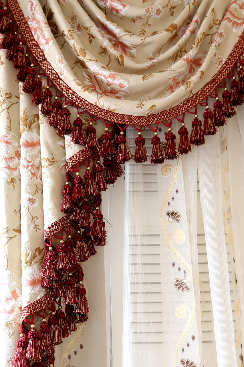 Swag curtains pattern - Picture Of Debutante Classic Overlapping Swag Valance Curtains