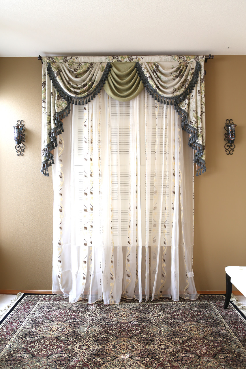 appalachian spring swag valance curtains. Black Bedroom Furniture Sets. Home Design Ideas