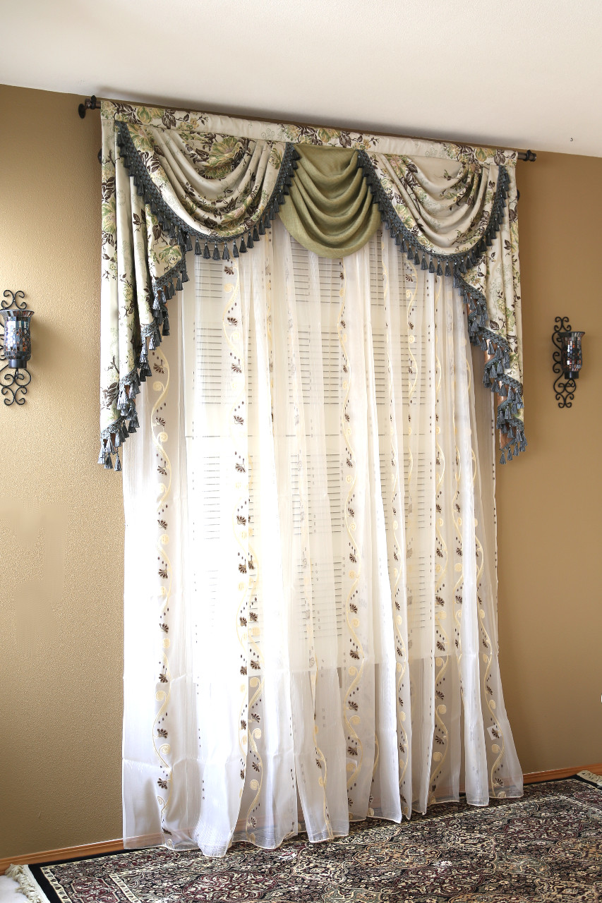 Drapery And Curtain Ideas: Appalachian Spring Swag Valance Curtains
