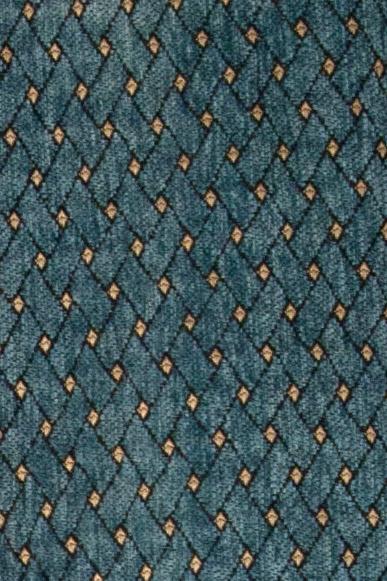Paris Salon Swag Valances Curtain Drapes Blue Chenille