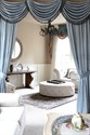 Picture of Blue Chenille - Flip Pole Swag Valance Curtains