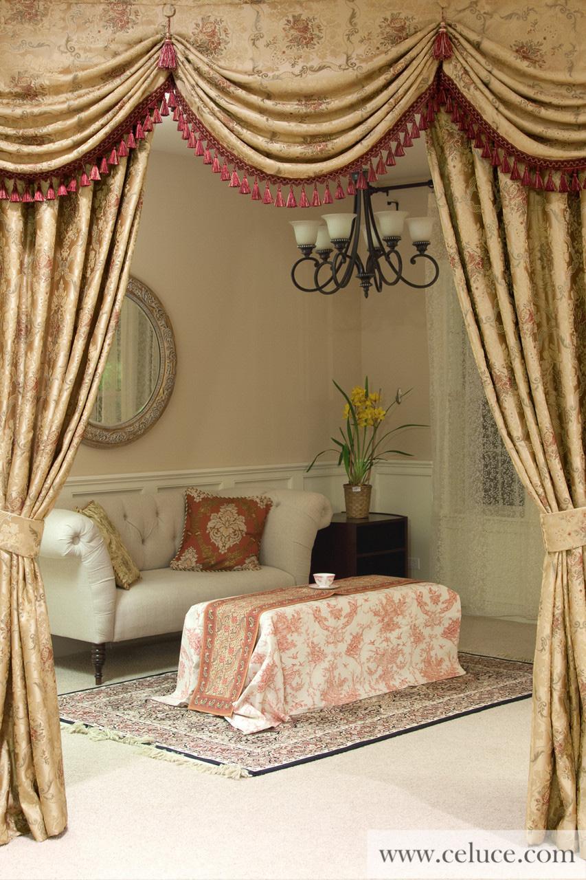 austrian swag valances curtain drapes versailles rose. Black Bedroom Furniture Sets. Home Design Ideas