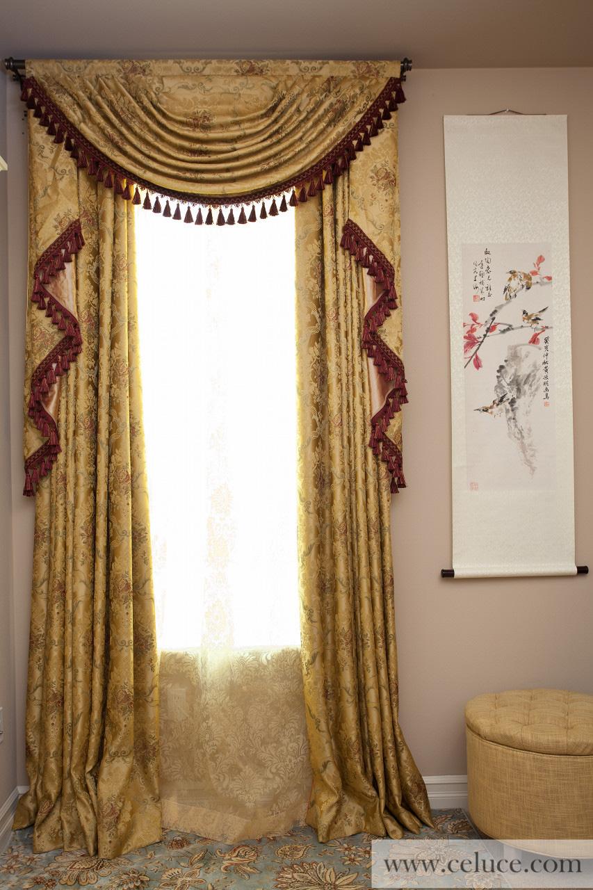 Austrian Swag Valances Curtain Drapes Versailles Rose
