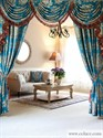 Picture of Blue Lantern - Classic Overlapping Swag Valance Curtain Set