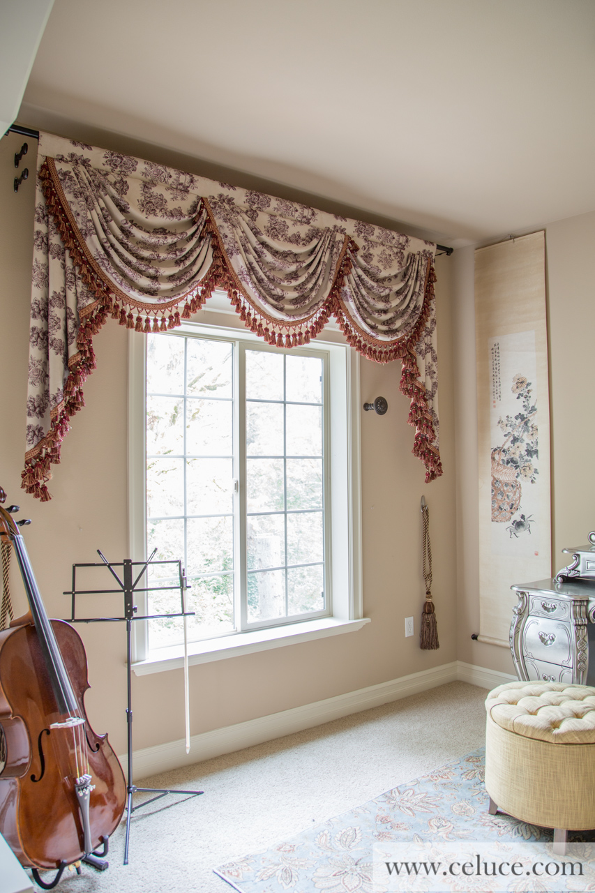 Classic Overlapping Swag Valances Curtain Drapes Toile De