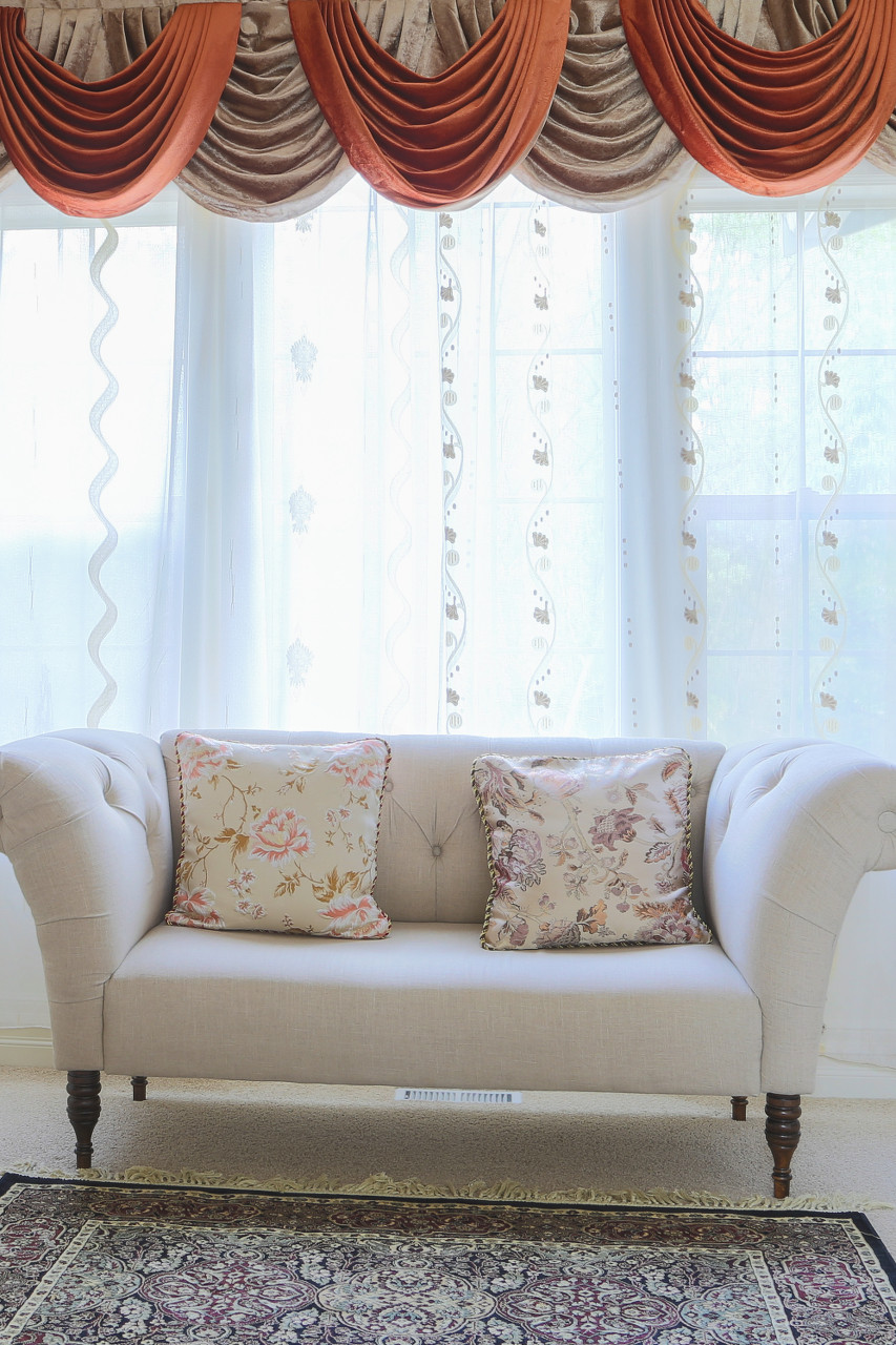 natural country curtains beige toppers valance priscilla stephanie collections window shaped ruffled