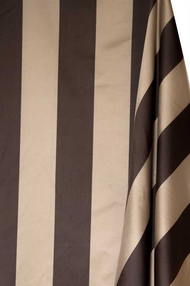 Picture of Stripe Faux Silk - Beige and Brown