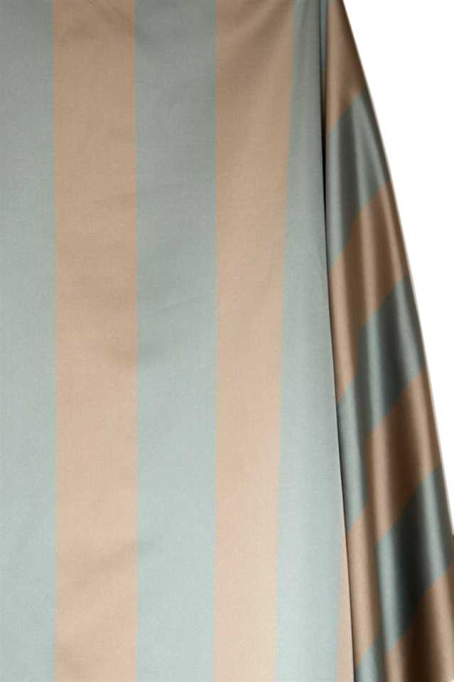 Picture of Stripe Faux Silk - Light Blue and Beige