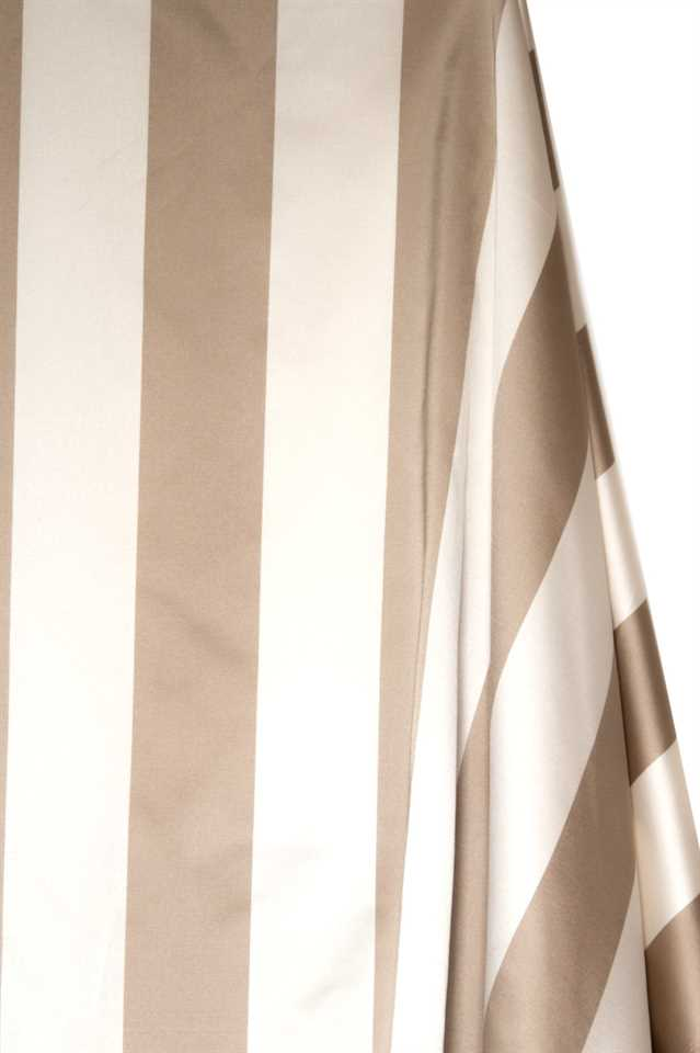 Picture of Stripe Faux Silk - Beige and White