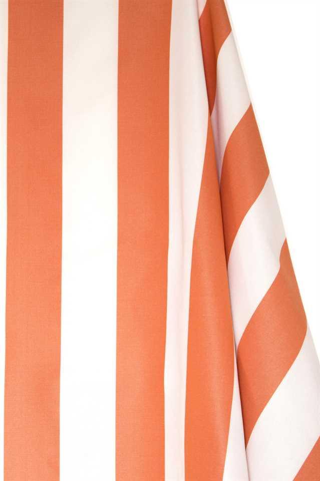 Picture of Stripe Cotton Blend - Orange and White