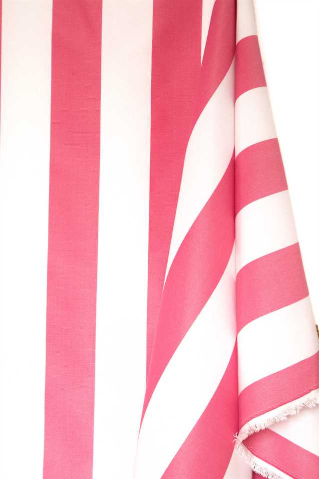 Picture of Stripe Cotton Blend - Pink and White