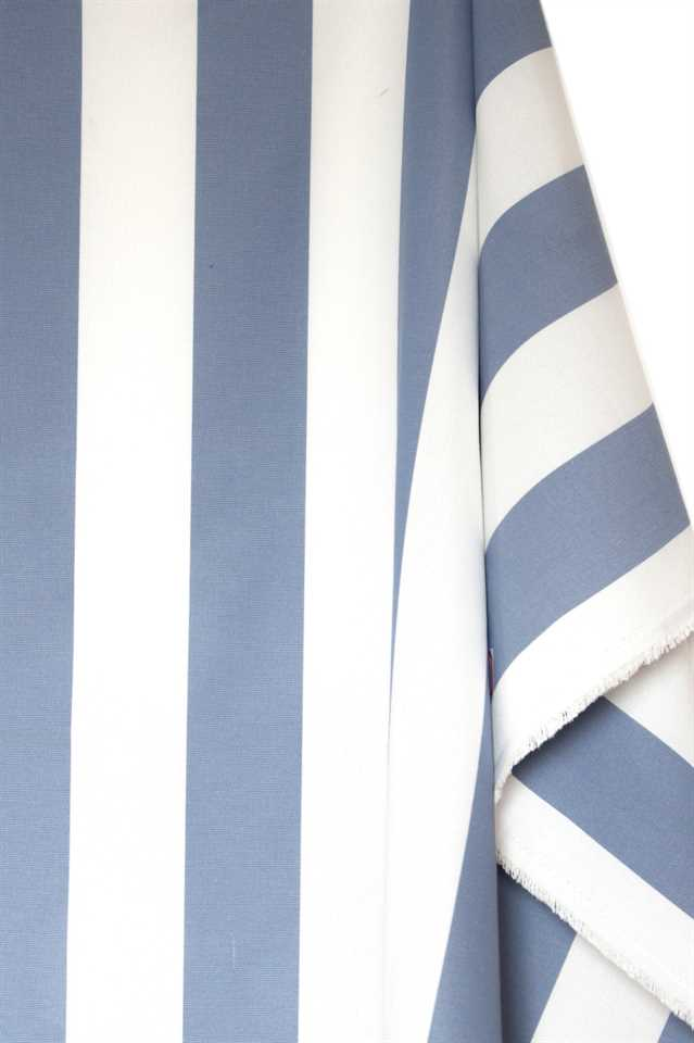Picture of Stripe Cotton Blend - Blue and White
