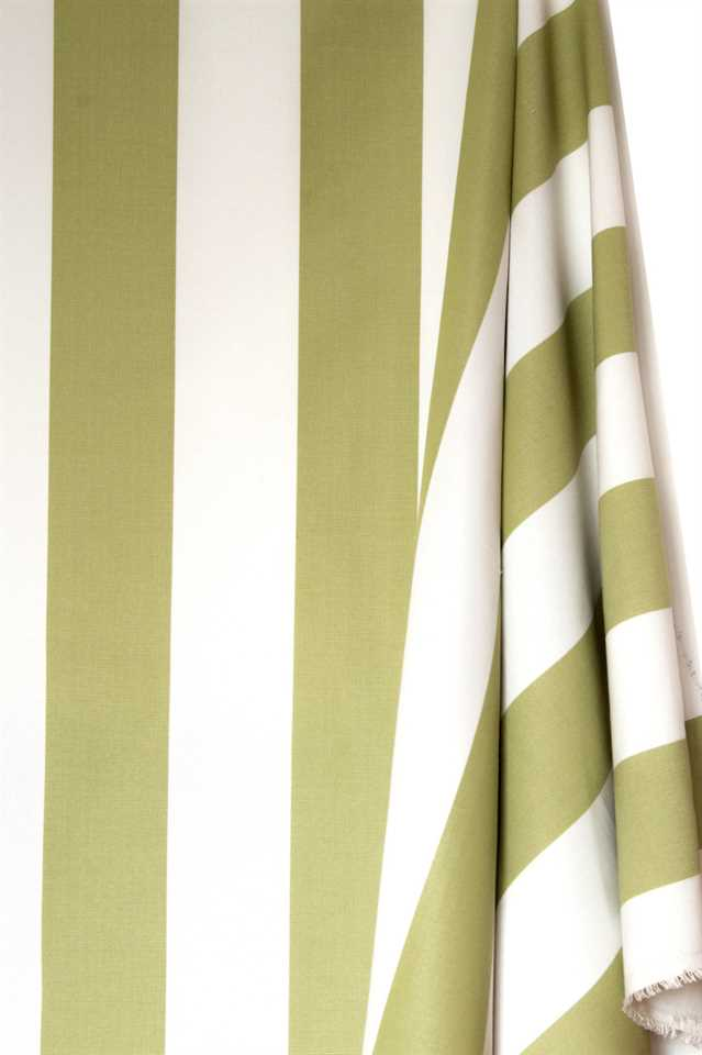 Picture of Stripe Cotton Blend - Green and White
