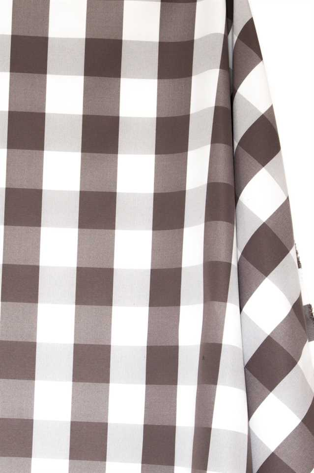Picture of Plaid Cotton Blend - Brown and White