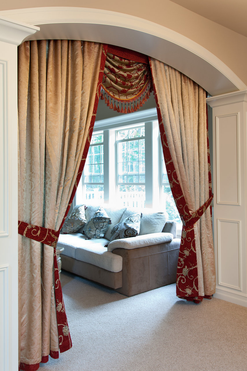 blue valance small curtain salon curtains window valances and touch inch of swag class p drapes