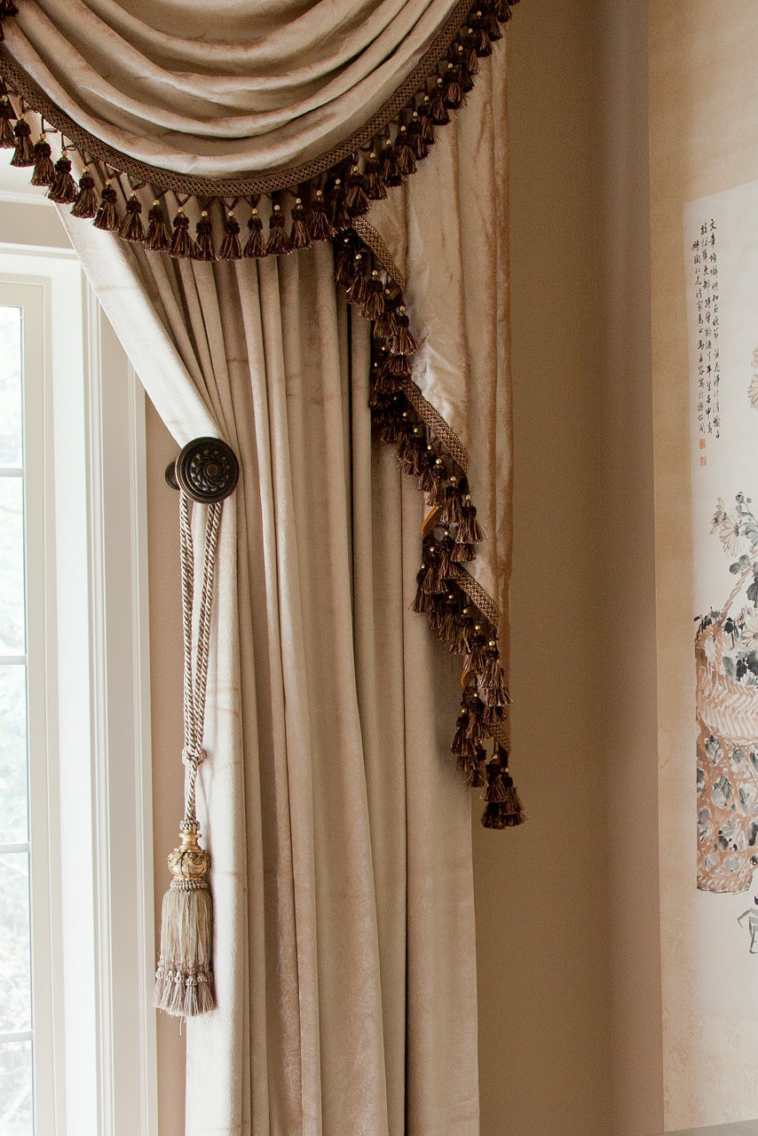 Pearl Dahlia Swags And Tails Valance Curtain Set 100