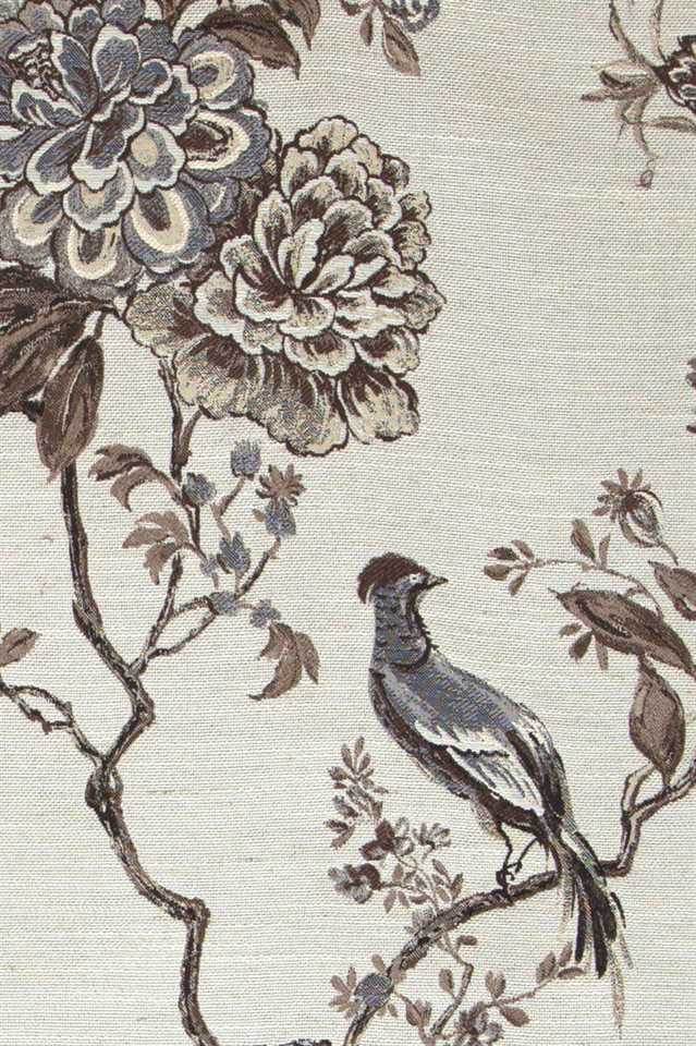 Picture of Bird and Peony - Brown