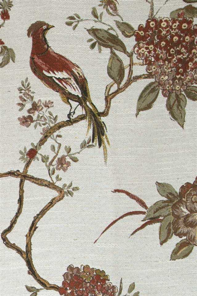 Picture of Bird and Peony - Red and Green