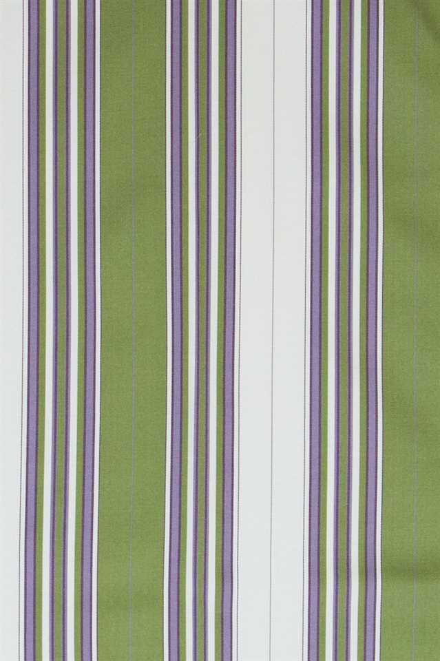 Picture of Narrow Stripe Faux Silk - Green, Purple and White