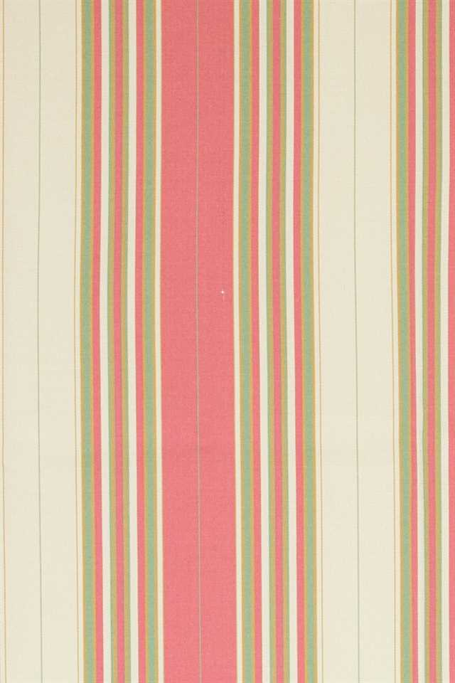 Picture of Narrow Stripe Faux Silk - Pink, Green and Beige