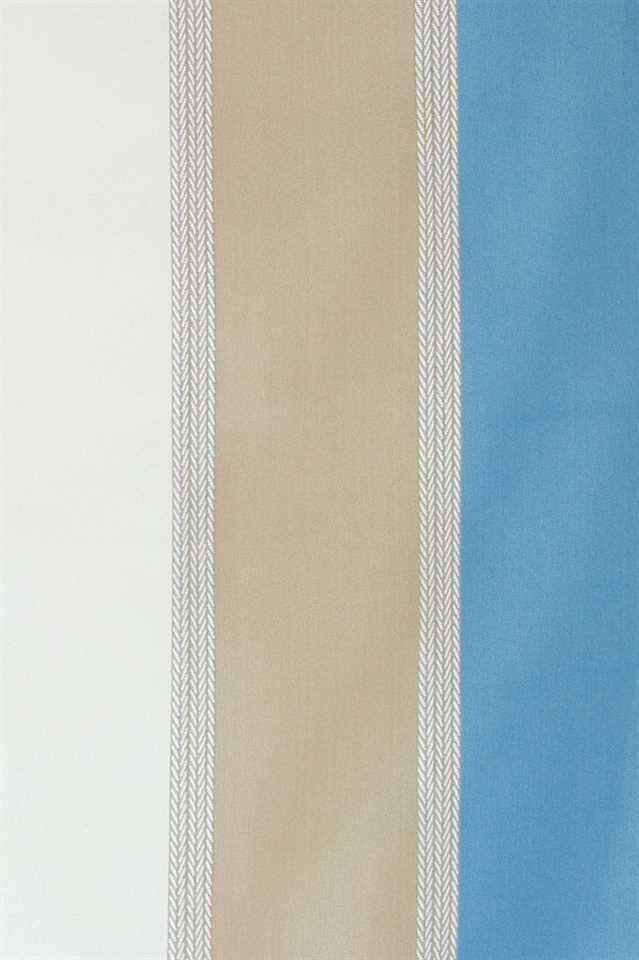 Picture of Stripe Faux Silk - Blue, Beige and White