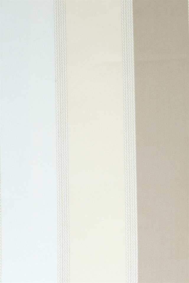 Picture of Stripe Faux Silk - Beige, Ivory and White