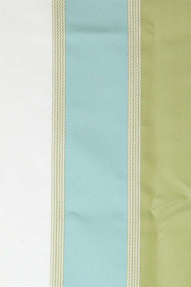 Picture of Stripe Faux Silk - Blue, Green and White