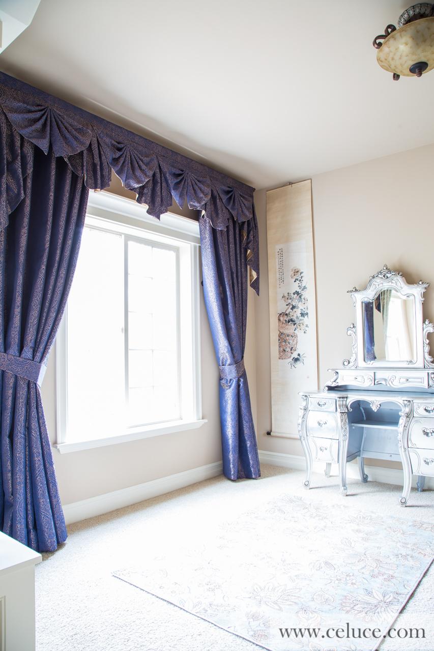 Renaissance arabesque paris salon cascade valances curtain for Pareti salone