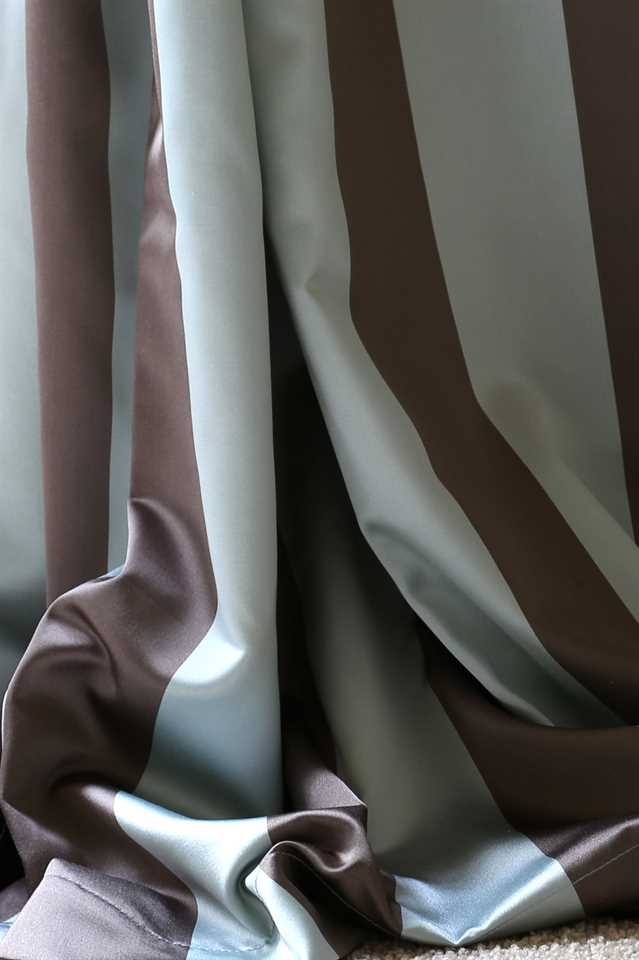 Picture of Stripe Faux Silk - Blue and Brown
