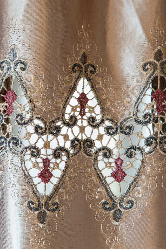 Picture of Embroidery Faux Silk - Champagne