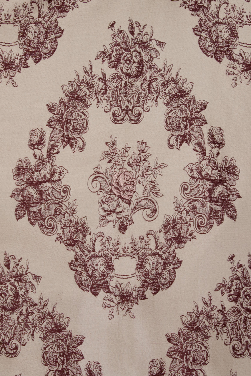 Toile De Fleur Half Overlapping Swag Valance Curtains 100 Inch