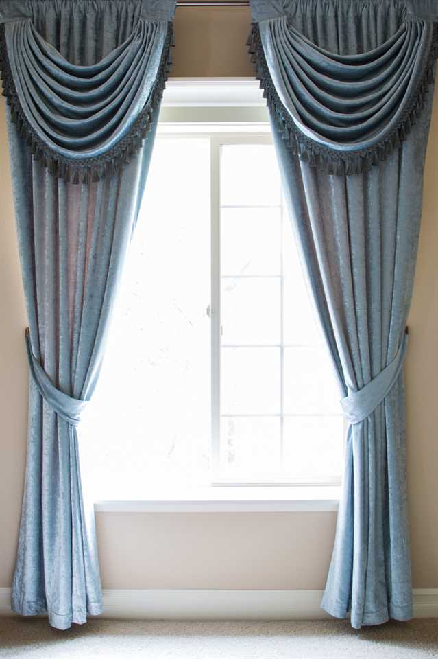 Picture of Blue Chenille - Panel With Swag Style