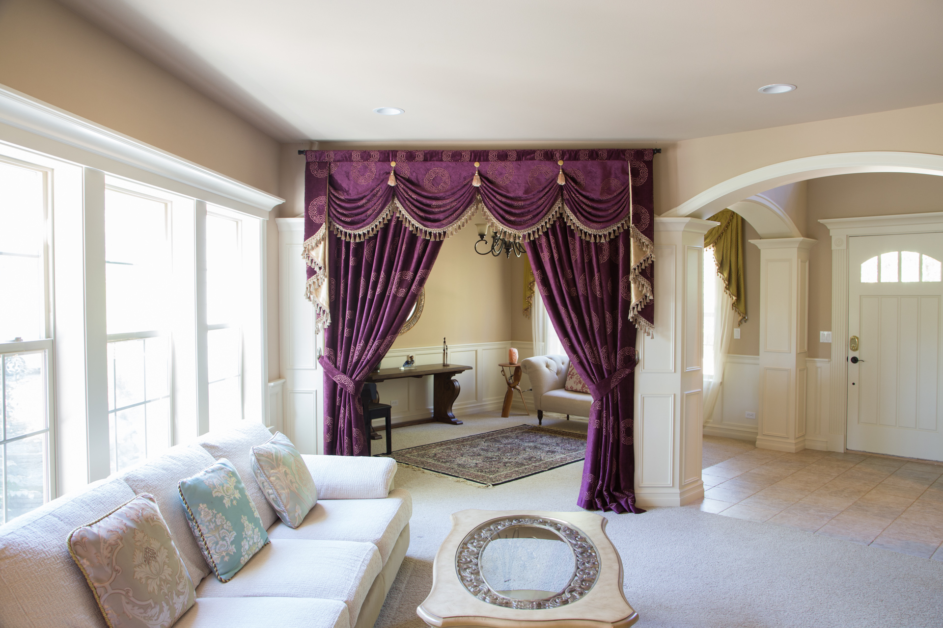 Austrian Swag Valances Curtain Drapes Orchid Imperial