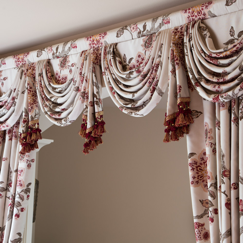 La Traviata Burgundy Swag Pelmet Valance Curtain 100 Inches