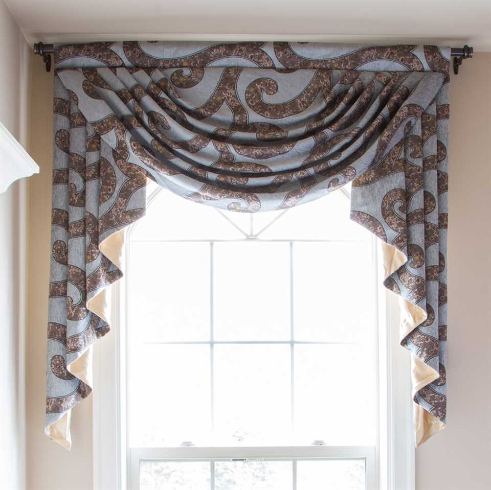 Picture of Blue & Brown Chenille Valance Only