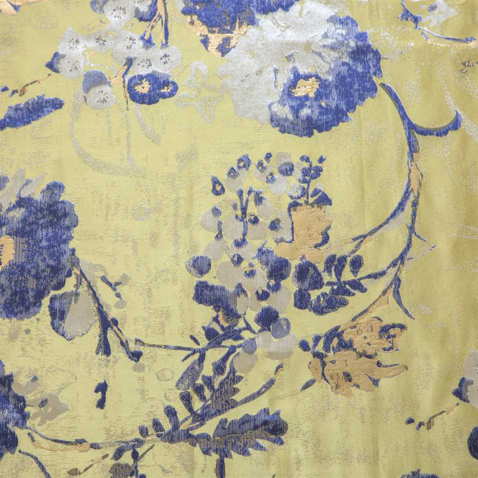 Picture of Kimono Flowers - Gold